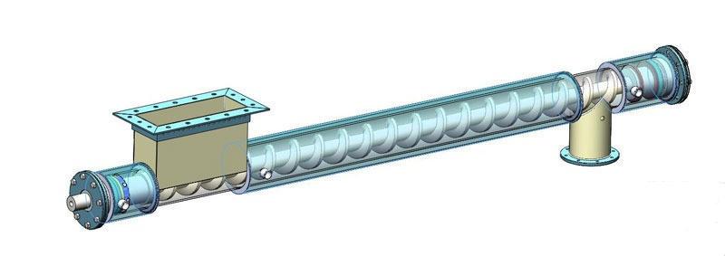 Наклонный транспортер шнековый рольганги неприводные бу